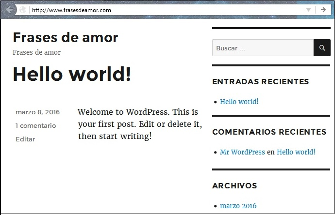 aspecto web wordpress