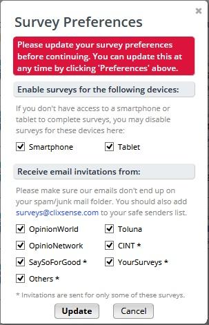 survey preferences clixsense 2017