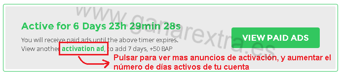 cuenta activa paydverts