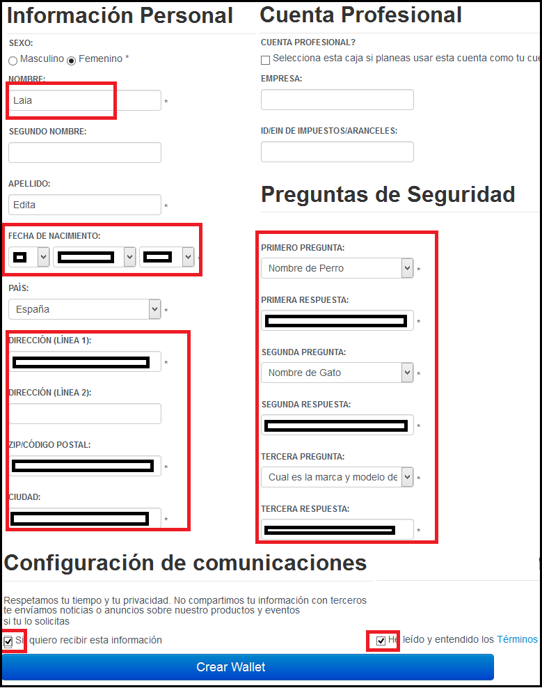 datos registro de paytoo