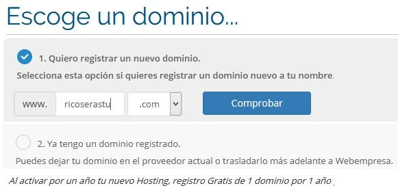 hosting webempresa paso 1