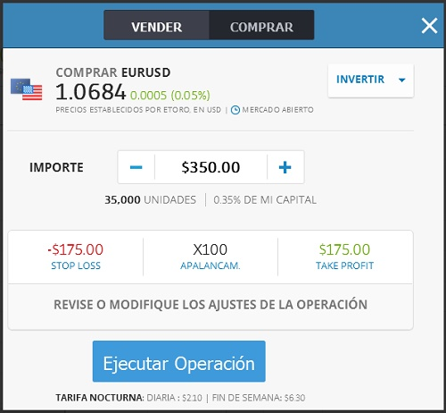 configurar inversion etoro