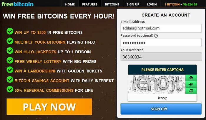 registro freebitcoin